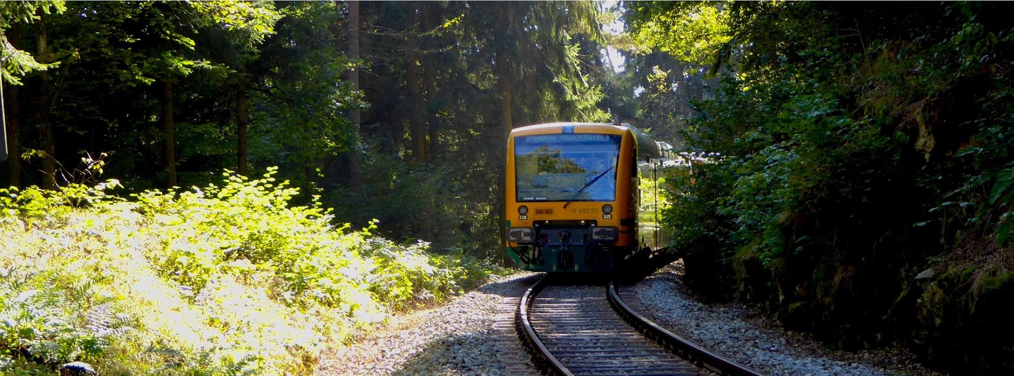 Einheimische und Touristen - mit Bahn und Bus unterwegs im Bayerischen Wald